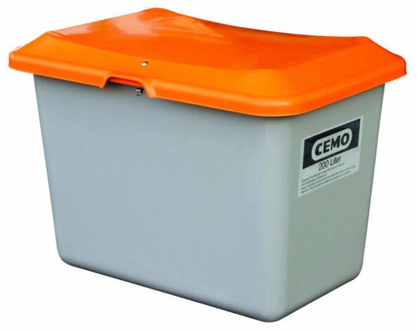 Bac à sel PFV PLUS3 200 litres sans ouverture d'écoulement et sans passage de fourches