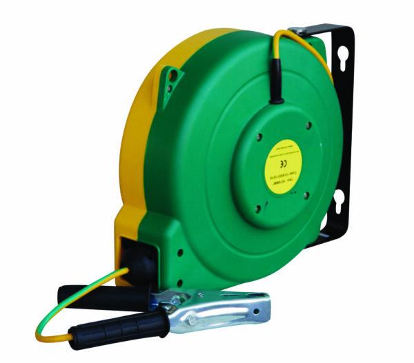 Enrouleur automatique pour liaison équipotentielle avec 16 m de câble 8 mm² vert/jaune
