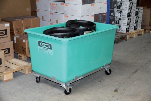 Bac PFV sur roulettes 400 litres