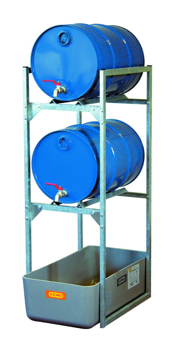 Rayonnage 120 avec 2 supports pour fût de 60 litres