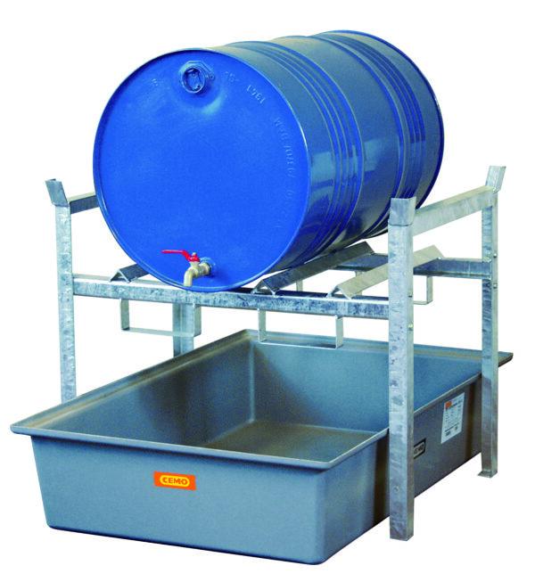 Rayonnage 400 pour 2 fûts de 60 litres ou 1 fût de 220 litres