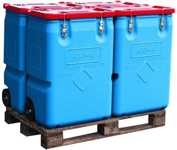 MOBIL-BOX 250 litres le lot de 4 pièces
