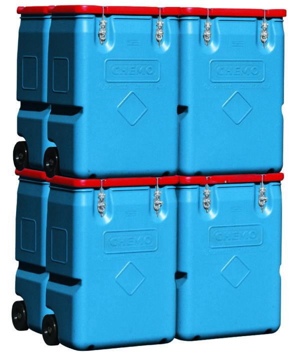 MOBIL-BOX 250 litres le lot de 8 pièces