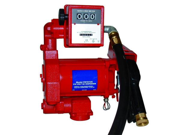 Pompe ATEX 230 V avec compteur mécanique 3 chiffres