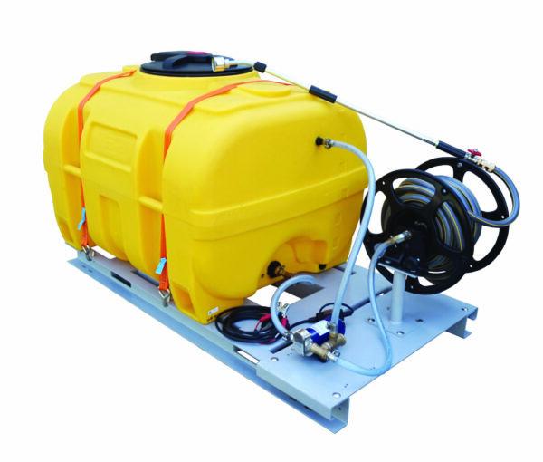 Cuve PE coffre équipée sur plateau 600 litres version électrique