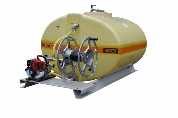 Cuve PFV ovale équipée sur plateau 1 000 litres version thermique