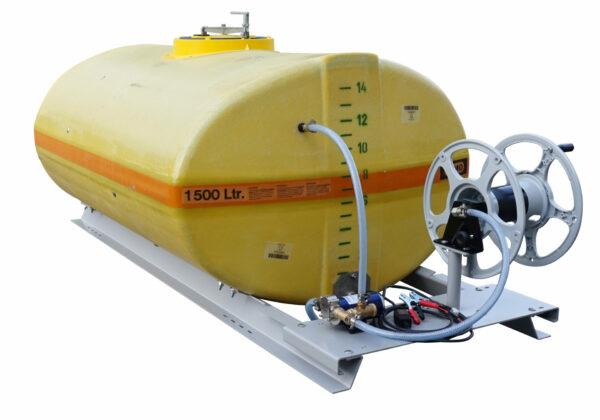Cuve PFV ovale équipée sur plateau 1 500 litres version électrique