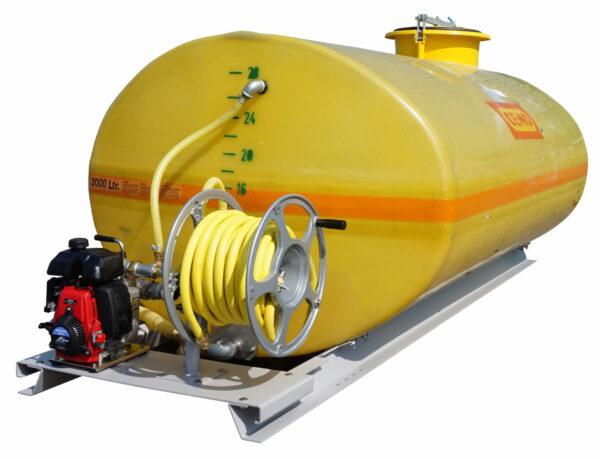Cuve PFV ovale équipée sur plateau 3 000 litres version thermique