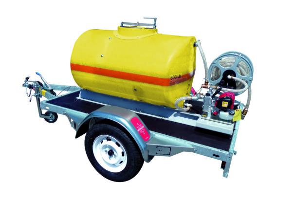 Cuve PFV ovale équipée sur remorque routière 600 litres version thermique