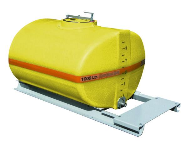 Cuve PFV ovale nue sur plateau 1 000 litres