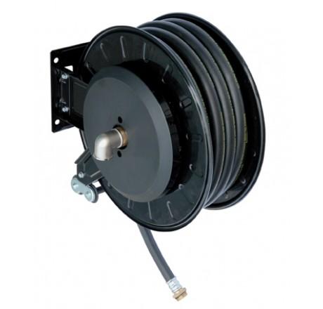 Enrouleur automatique gasoil carrossé ouvert - équipé de 8 m de flexible caoutchouc DN 25