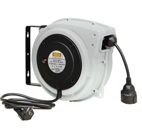 Enrouleur automatique câble électrique 230 V
