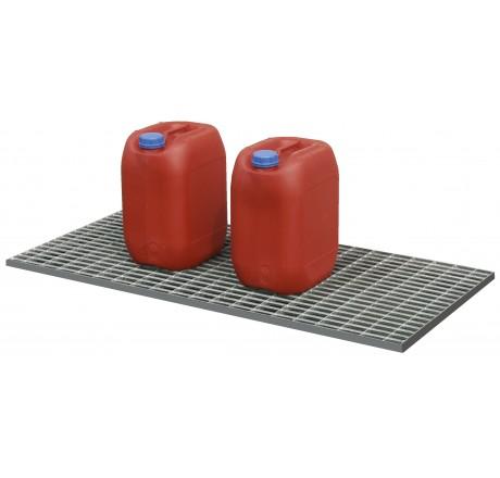 Caillebotis en acier galvanisé pour bac PLAT 30