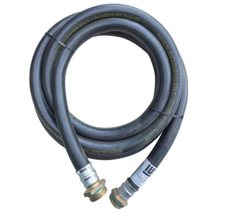 """Flexible de distribution DN 19 pour essence avec 1/2 union F 1"""" et 1 raccord fileté 1"""""""