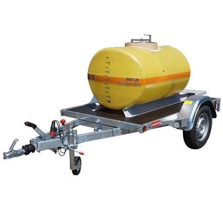 Cuve PFV ovale nue sur remorque routière 600 litres