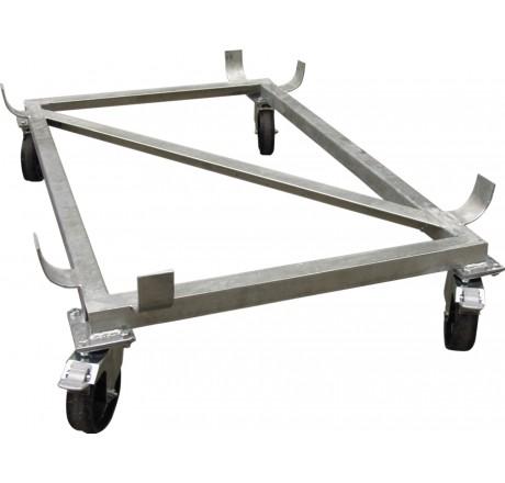 Cadre sur roulettes en acier galvanisé