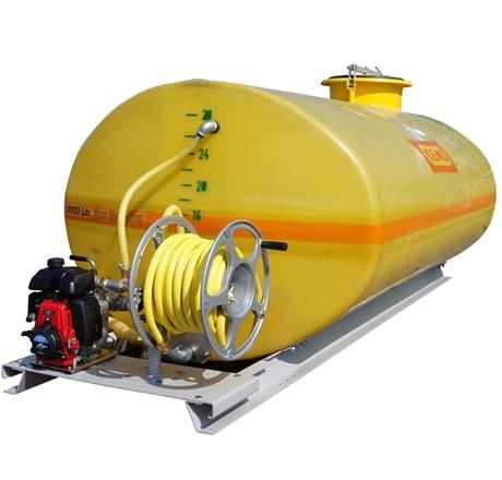 Cuve PFV ovale équipée sur plateau 2 000 litres version thermique