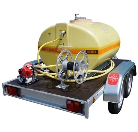 Cuve PFV ovale équipée sur remorque routière 1 500 litres version thermique